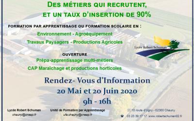 Mercredis d'information au Lycée Robert Schuman de Chauny, dernières places disponibles